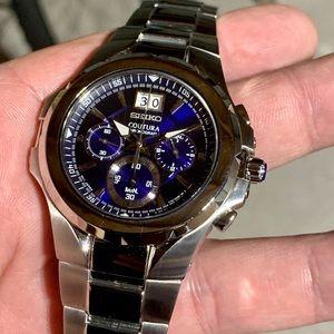 New Seiko Coutura Chronograph Marine Blue Dial